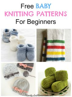 Free Baby Knitting Patterns And Projects For Beginners   Handy & Homemade