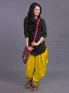 rayon party wear Kurti with patiyala dhoti Dhoti Salwar Suits, Patiala Dress, Churidar, Salwar Kameez, Punjabi Suits, Black Patiala Suit, Black Punjabi Suit, Net Kurti, Kurti Skirt