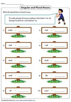 Plural Nouns with -VES