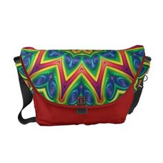 A Rickshaw brand Messenger bag with kaleidoscope design, available at my www.zazzle.com/lyle58* store. #Zazzle #kaleidoscope by Lyle Hatch