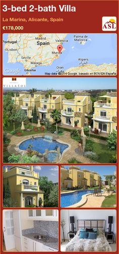 3-bed 2-bath Villa in La Marina, Alicante, Spain ►€178,000 #PropertyForSaleInSpain