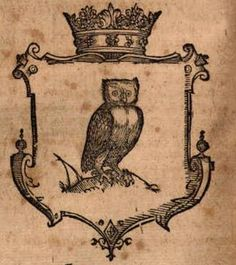Gravure chouette 1598/ Engraving owl 1598