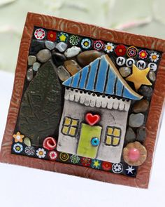 HOME Mosaic art mixed media mosaic by Lisabetzmosaicart on Etsy, $58.00