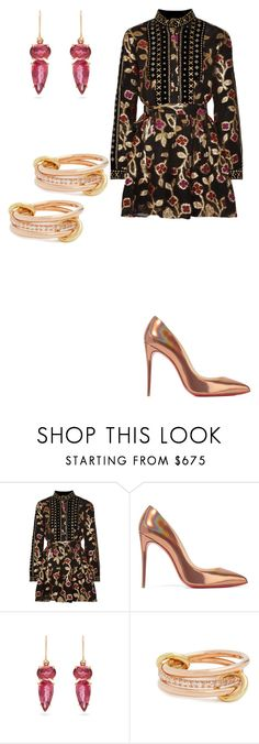 """""""Highly Detailed Dress Creation"""" by butterflyjones ❤ liked on Polyvore featuring Dodo Bar Or, Christian Louboutin, Irene Neuwirth and SPINELLI KILCOLLIN"""