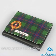 Shaw Clan Crest and Tartan Purse