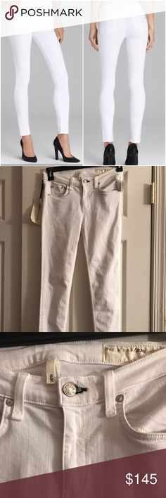 RAG & BONE BRIGHT WHITE CAPRI JEANS 27 Gorgeous brand new rag & bone white jeans. Size 27. With tags rag & bone Jeans Ankle & Cropped