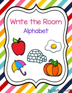 All you have to do is print and go!Get your students up and moving! Writing Center Kindergarten, Kindergarten Freebies, Kindergarten Language Arts, Kindergarten Activities, Writing Activities, Classroom Activities, Kindergarten Classroom, Teaching Resources, Alphabet Writing