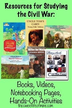 Recently we studied the Civil War, and I really wanted to dig deep. Here's a list of middle school Civil War books, hands-on activities, and videos we used. Middle School History, History For Kids, Study History, History Teachers, History Class, Social Studies Classroom, Social Studies Resources, Teaching Social Studies, Math Resources