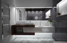 54 Premium Modern White Bathroom with White Cabinets Ideas - HomeCNB Modern White Bathroom, Contemporary Bathrooms, Modern Bathroom Design, Bathroom Interior Design, Small Bathroom, Beautiful Bathrooms, Master Bathroom, Minimal Bathroom, Marble Bathrooms