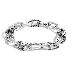 John Hardy Men's Classic Chain Link Bracelet (1 047 AUD) via Polyvore featuring men's fashion, men's jewelry, men's bracelets and silver
