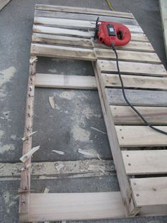 This is exactly what we did for our pallet sectional, but we left the cut boards on.