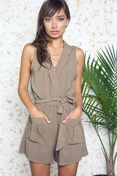 ed1feafe79c Safari Chic Khaki Dress