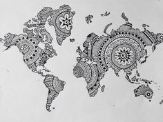 Want to do this! Just print a black/white picture of a map then ...