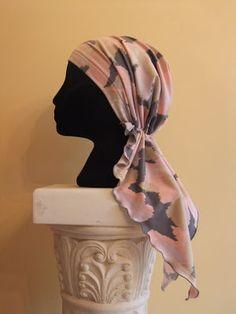 free chemo scarf sewing pattern, free pattern for pretied bandana, Snip-Rip-Hooray