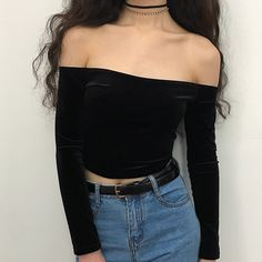 one shoulder velvet top · loveheynew · Online Store Powered by Storenvy