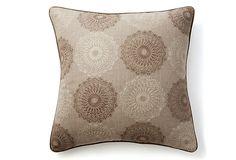 Silly Dilly Linen 22x22 Pillow, Gray on OneKingsLane.com
