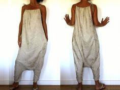 Patron de couture - Combi sarouel avec poches dans la couture