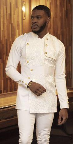 Threaded Culture Nigerian Men Fashion, Indian Men Fashion, Latest African Fashion Dresses, Mens Fashion Suits, African Shirts For Men, African Attire For Men, African Wear, African Dress, Wedding Dress Men