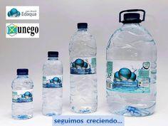 Aquí tienes los formatos de nuestro agua mineral natural:  0,33 litros  0,50 litros 1,5 litros 5 litros