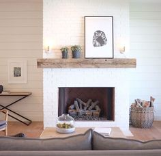 Shiplap And Reclaimed Wood Mantle