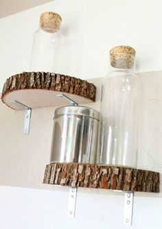 HOME DZINE Craft Ideas | Great way to use wood slices as chunky shelves
