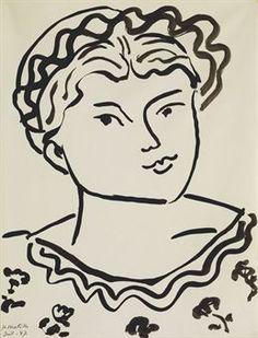 Henri Matisse,Tête d'une jeune fille.