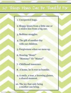 10 things mom