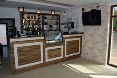 Mobila Bar Piscina Monaco Bacau fete din MDF culoare Nuc Dijon Mat