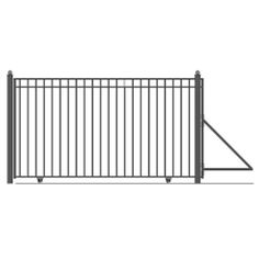 Gate V Track Aluminum 18ft 3-6ft Section Sliding Gate Track Slide Rolling Roll
