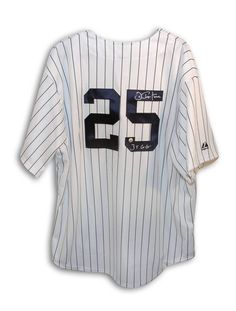 dae99f8ee Joe Pepitone New York Yankees Autographed Majestic Jersey Inscribed
