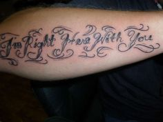 A Soldiers Reminder Tattoo