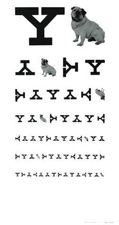yale eye chart (good poster for evan's office) by Paul Rand