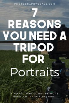 One of the underrated portrait photography tips is to get a good tripod. Tripod photography is not just for self-portraits. Find out 7 reasons why you need one. Flash Photography Tips, Creative Portrait Photography, Hdr Photography, Photography Tips For Beginners, Creative Portraits, Photography Business, Photography Tutorials, Beauty Photography, Digital Photography