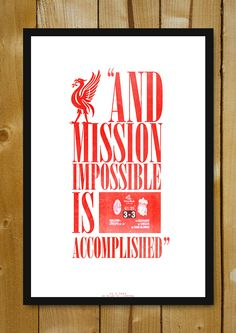 Buy Framed Posters Online Shopping India | Liverpool Wins Champions League Minimal Football Art Glass Framed Poster | PosterGully