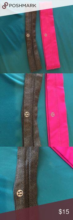 lulu headband bundle! 2 lulu headbands, in great shape! Symbol is not wearing off and material is clean! lululemon athletica Accessories Hair Accessories