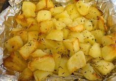 I call these Rausté Potatoes because they are a cross between roast and sauté.