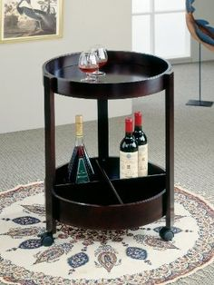 Modern Furniture And Contemporary Outlet Ny What Others Are Saying Compact Rich Dark Espresso Finished Wood Round Bar Cart