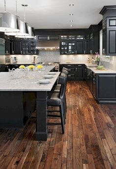 16 Modern Farmhouse Kitchen Cabinet and Countertops Ideas