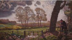 #Douglas #Percy #Bliss The #Gamekeeper 1935  #Oiloncanvas #oilpainting #art #modern #landscape #Britishart #LLFA