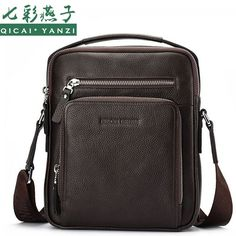 56.11$  Watch now - http://alir7h.worldwells.pw/go.php?t=32707445765 - 2017 Luxury Brands Genuine Leather Messenger Shoulder Bags Handbags Cowhide Men Fashion Tote Gift Top Quality Free Shipping P405 56.11$