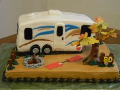 5th wheel travel trailer Cake  Made by Sweet Little Teri's