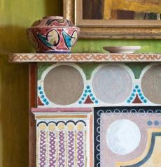 Charleston, the country home of the Bloomsbury Group, is a unique example of Vanessa Bell and Duncan Grant's decorative style within a domestic context and represents the fruition of over sixty yea...