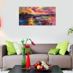 60x120cm Unframed Modern Hand-painted Painting Abstract Art Landscape Canvas