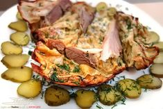 Roast lamb with pickled cucumbers - PhotoLeoGrapher Roast Lamb, Pickling Cucumbers, Guilty Pleasure, Potato Salad, Potatoes, Meals, Ethnic Recipes, Food, Meal