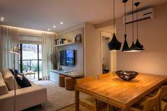 6 ideias fazem esse apartamento pequeno parecer maior (De Marina Mantovanini)