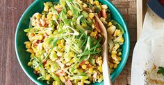 A classic American deep-south side that would be perfect with a barbecue or blackened Creole-style fish. Corn Maque Choux Recipe, Corn On Cob, Corn Salads, Picnic Foods, Vegetable Sides, Fish Recipes, Pasta Salad, Side Dishes, Yummy Food