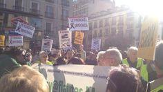 La movilización abarca cerca de 32 ciudades españolas. (Foto: @Sagaluz)