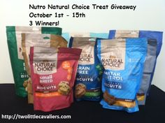 Nutro Natural Choice Treats Giveaway 3 winners. Great brand with many different varieties for all types of dogs!