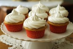 """""""It's so FLUFFFFY!!!"""" (Hazelnut cappuccino cupcakes with 7-minute frosting)"""