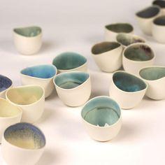Landscape bowls Porcelain slip casting 9x8cm